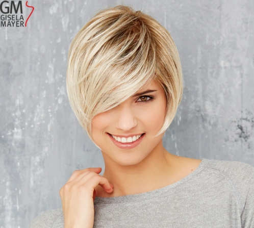 Wigs, synthetic hair, short, straight, lace front, monofilament and wefted