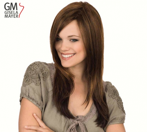 Wigs, synthetic hair, long, straight, lace front, monofilament and wefted